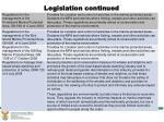 legislation continued9