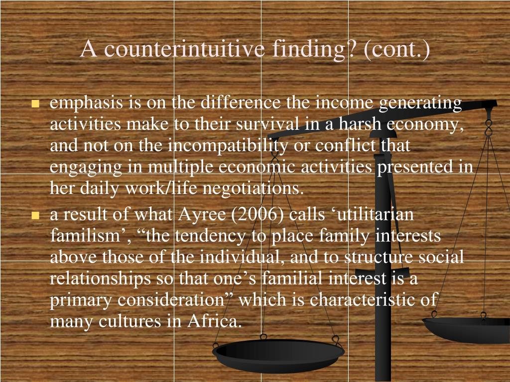 A counterintuitive finding? (cont.)