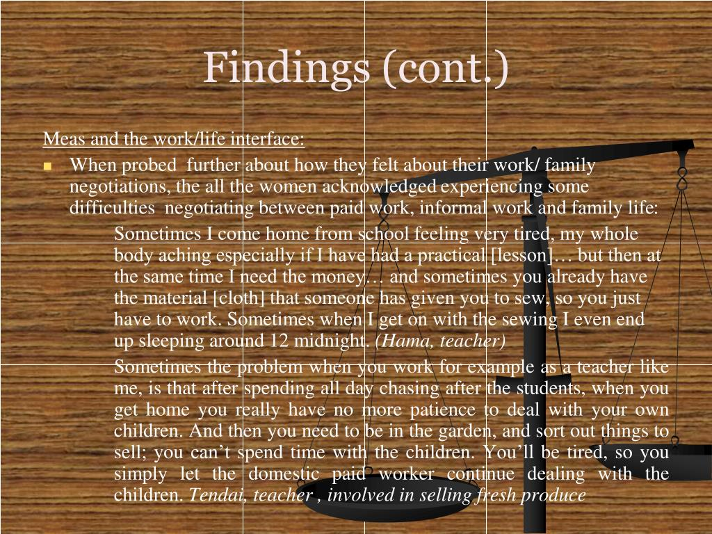 Findings (cont.)