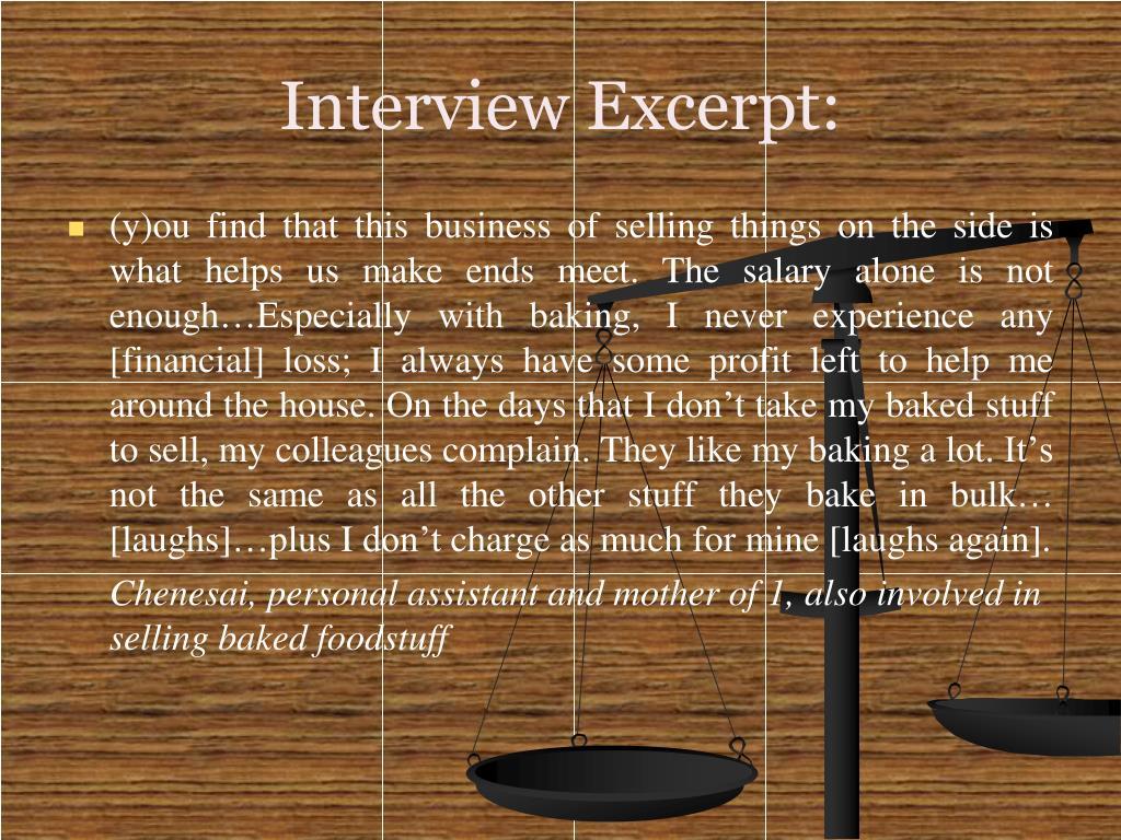 Interview Excerpt: