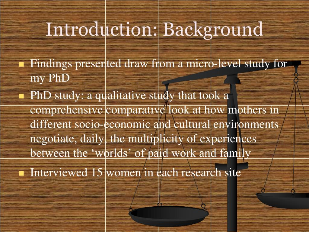Introduction: Background