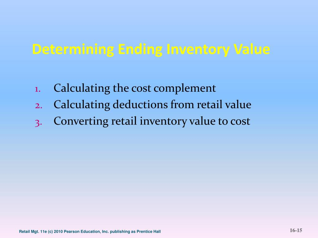 Determining Ending Inventory Value