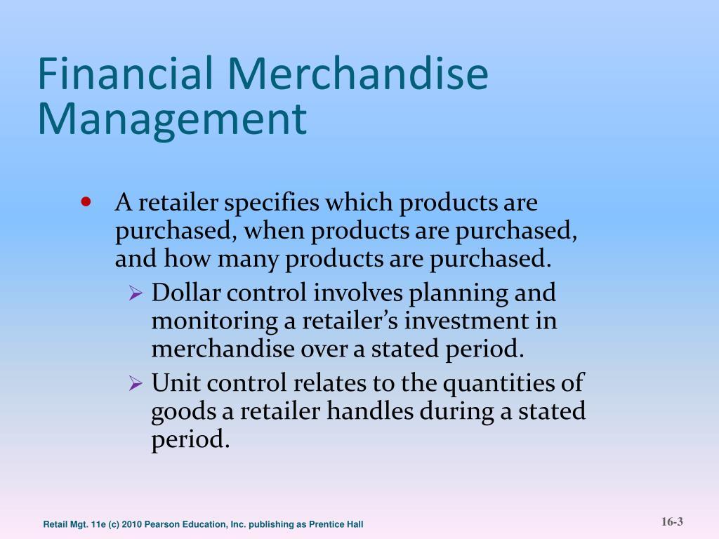Financial Merchandise