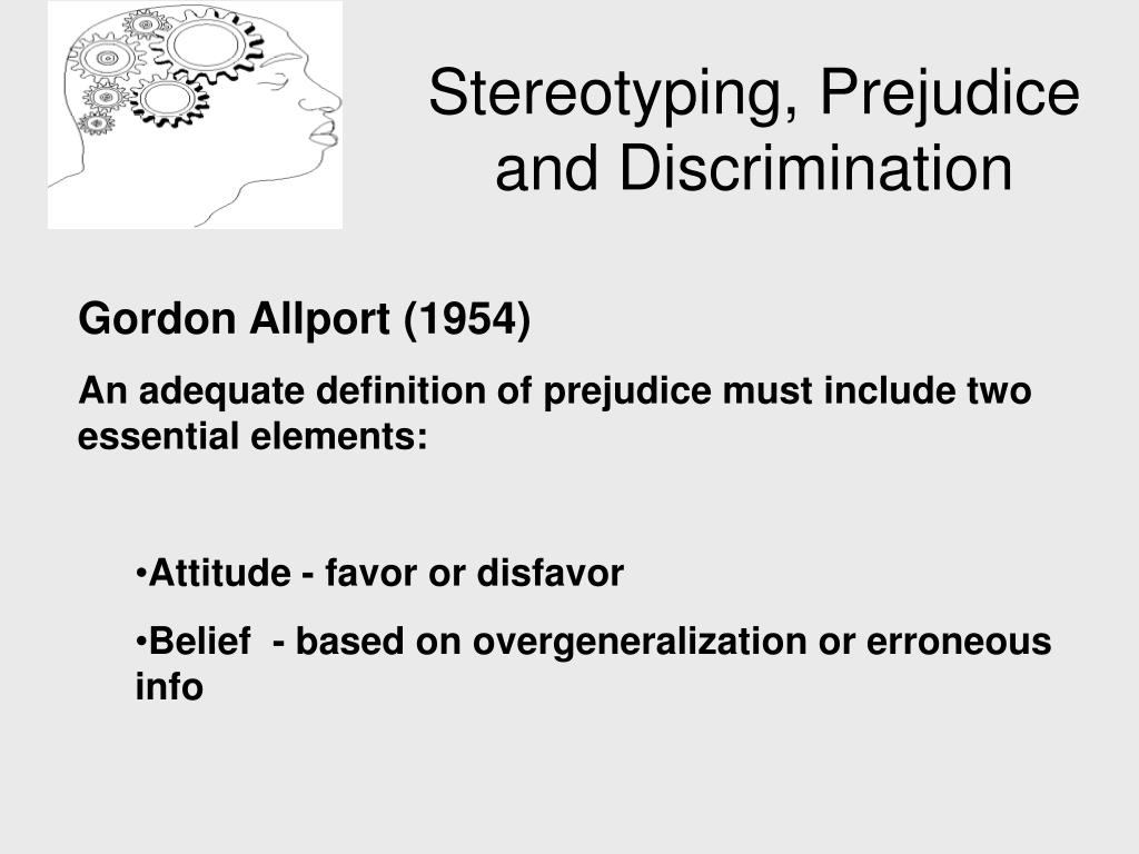 ppt - stereotyping, prejudice and discrimination powerpoint