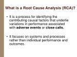 what is a root cause analysis rca