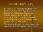 alsde model policy