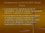 components of the alsde model policy6