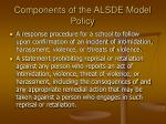 components of the alsde model policy7