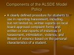 components of the alsde model policy9