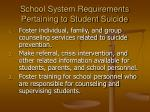 school system requirements pertaining to student suicide15