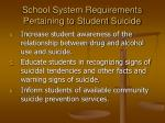 school system requirements pertaining to student suicide16