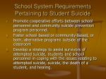 school system requirements pertaining to student suicide17