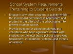 school system requirements pertaining to student suicide18