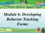 module 6 developing behavior tracking forms