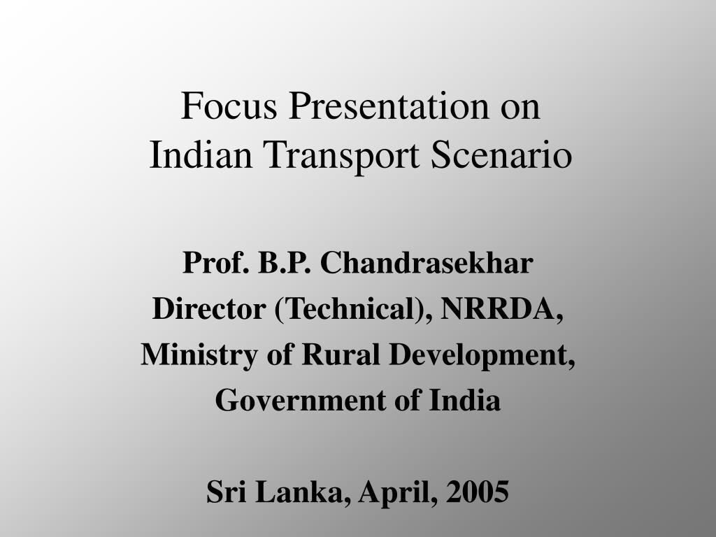 Focus Presentation on