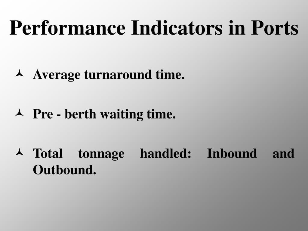 Performance Indicators in Ports