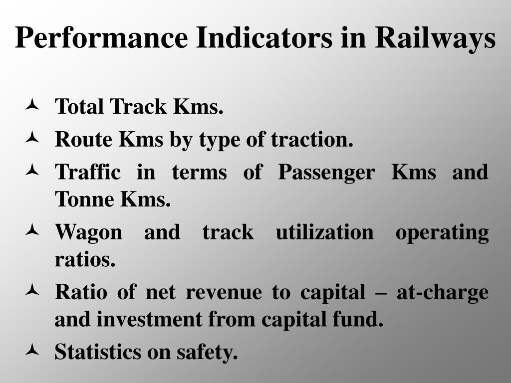 Performance Indicators in Railways