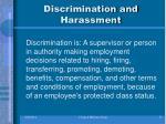 discrimination and harassment1