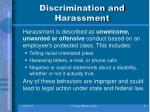 discrimination and harassment2