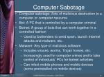computer sabotage