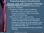 protecting against unauthorized access use and computer sabotage2