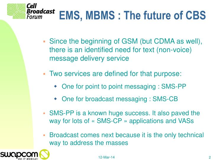 Ems mbms the future of cbs2