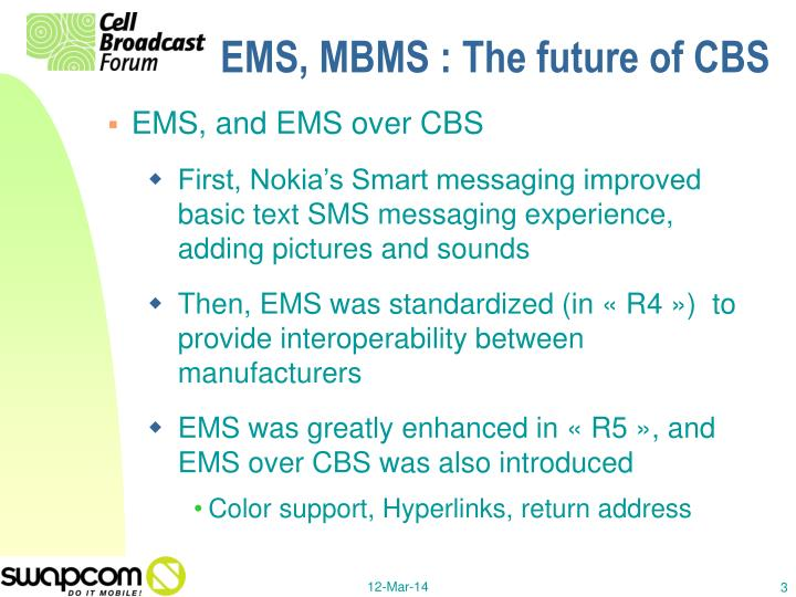 Ems mbms the future of cbs3