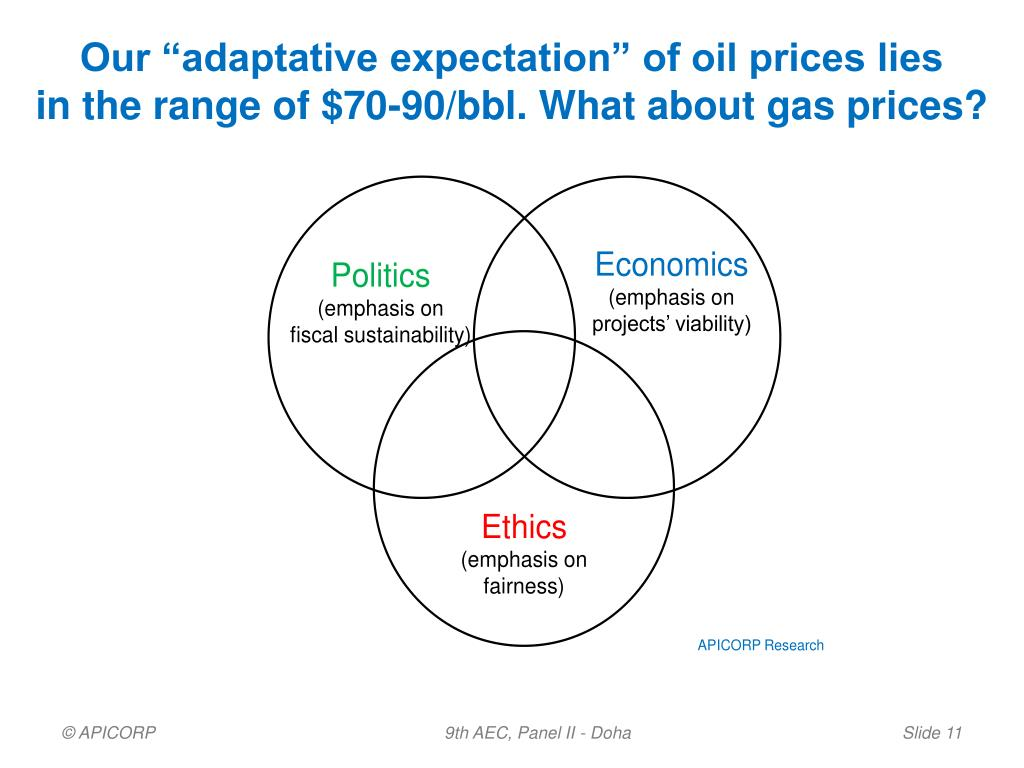 """Our """"adaptative expectation"""" of oil prices lies"""