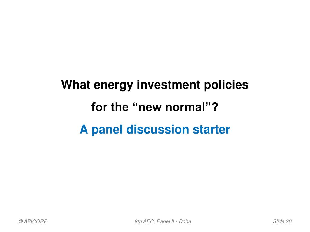 What energy investment policies