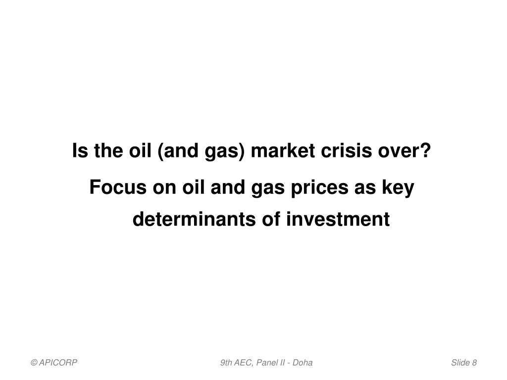 Is the oil (and gas) market crisis over?