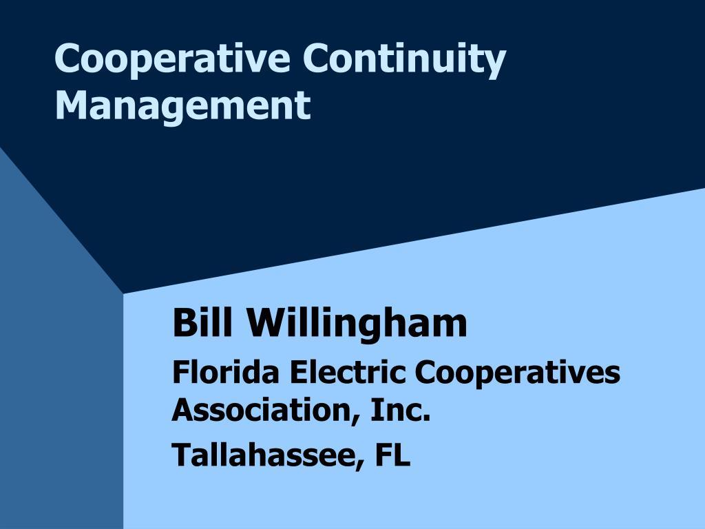 cooperative continuity management l.