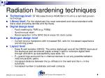 radiation hardening techniques