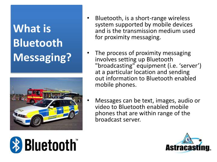 What is bluetooth messaging