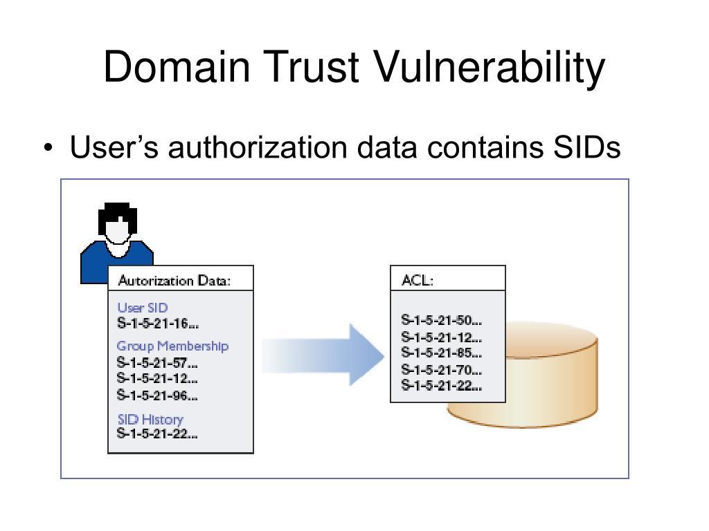 Domain Trust Vulnerability