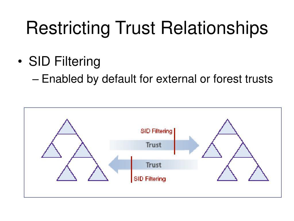 Restricting Trust Relationships