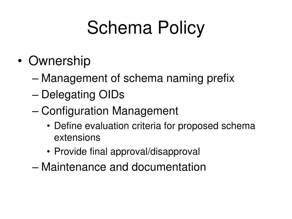 Schema Policy
