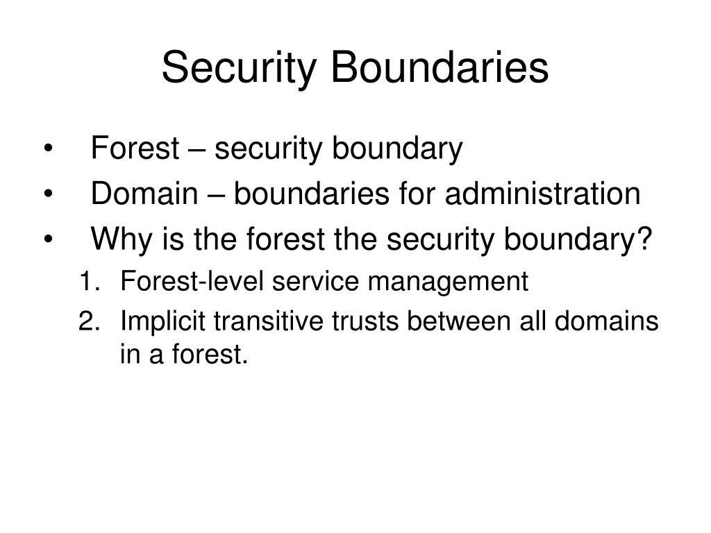 Security Boundaries