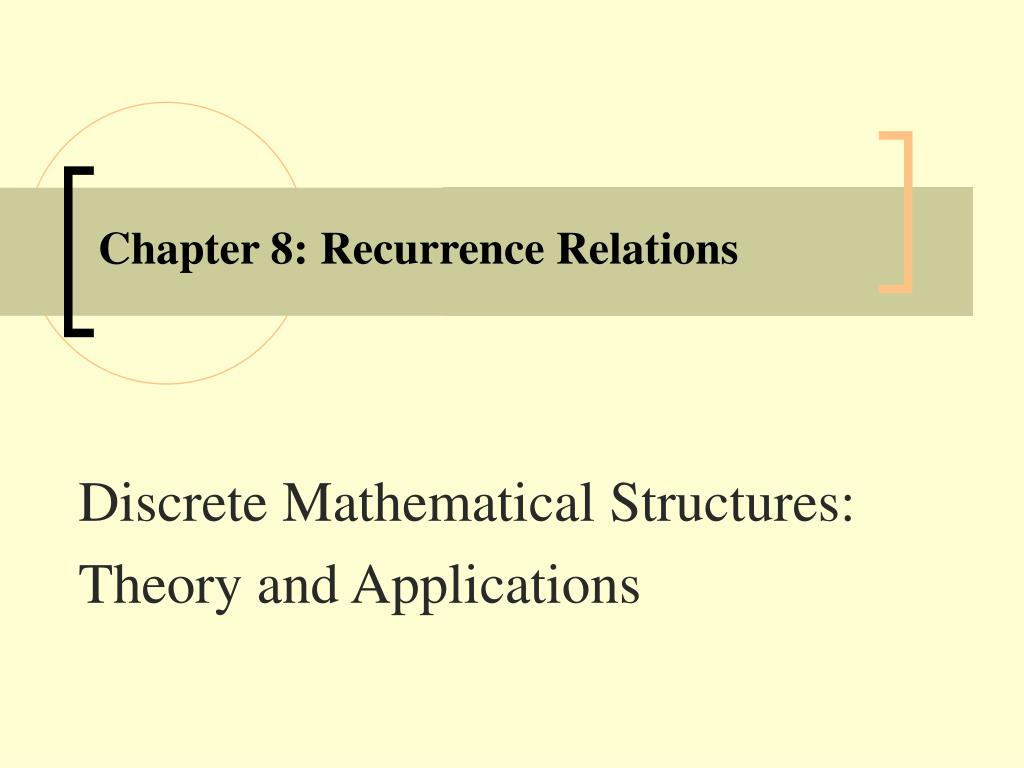 chapter 8 recurrence relations