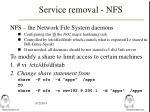 service removal nfs