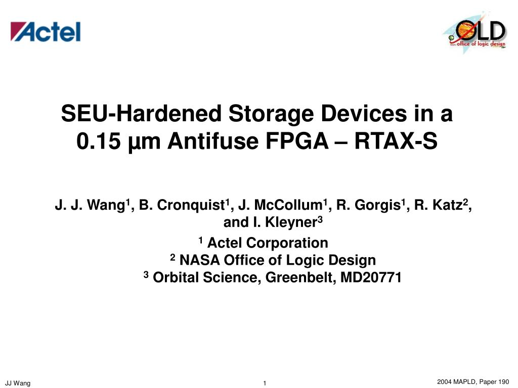 seu hardened storage devices in a 0 15 m antifuse fpga rtax s l.