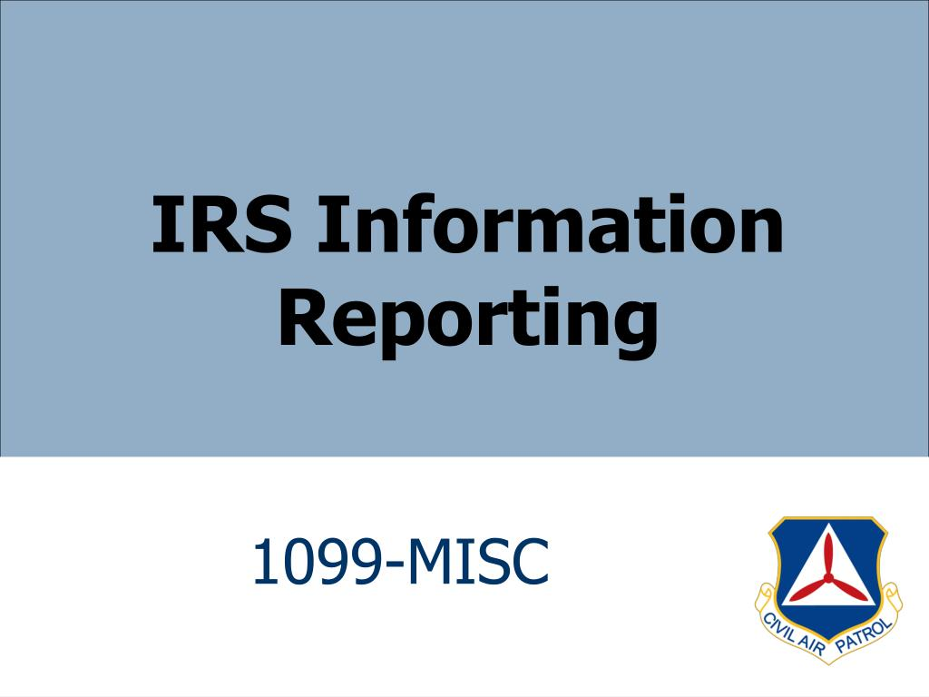 IRS Information Reporting