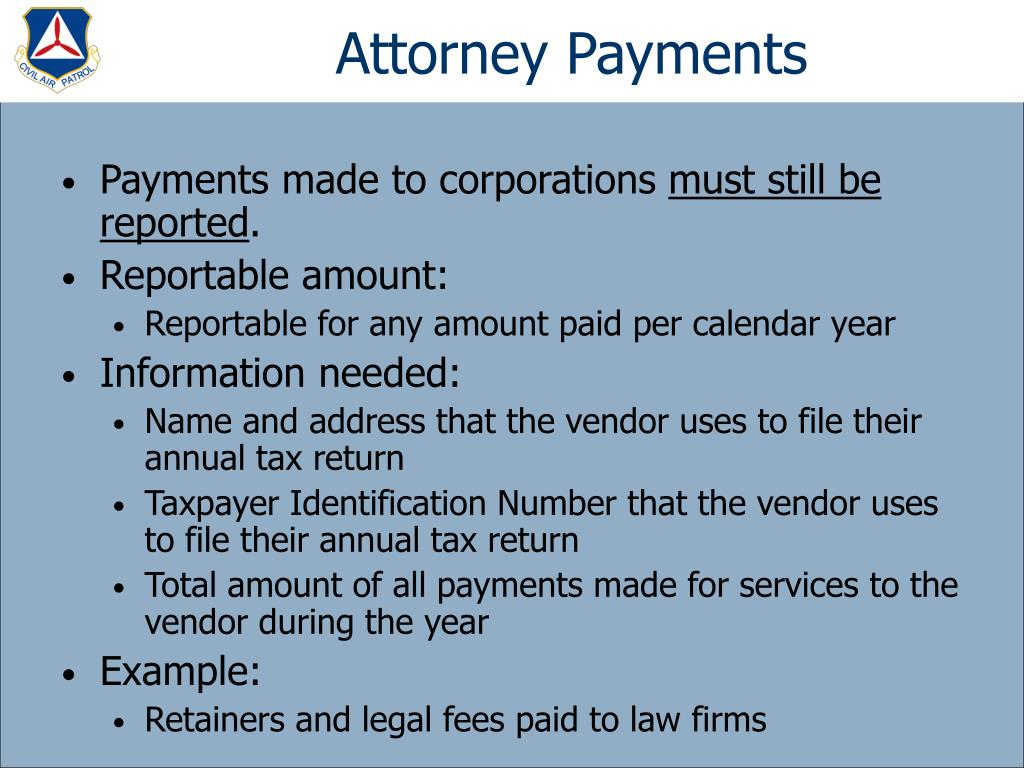 Attorney Payments