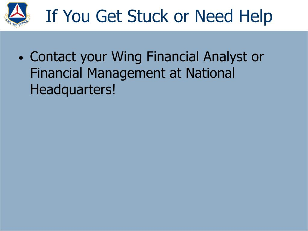 If You Get Stuck or Need Help
