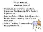 what we call what we teach
