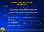 database systems security background