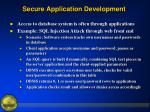 secure application development