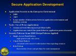 secure application development11