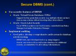 secure dbms cont8