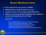 secure web server cont