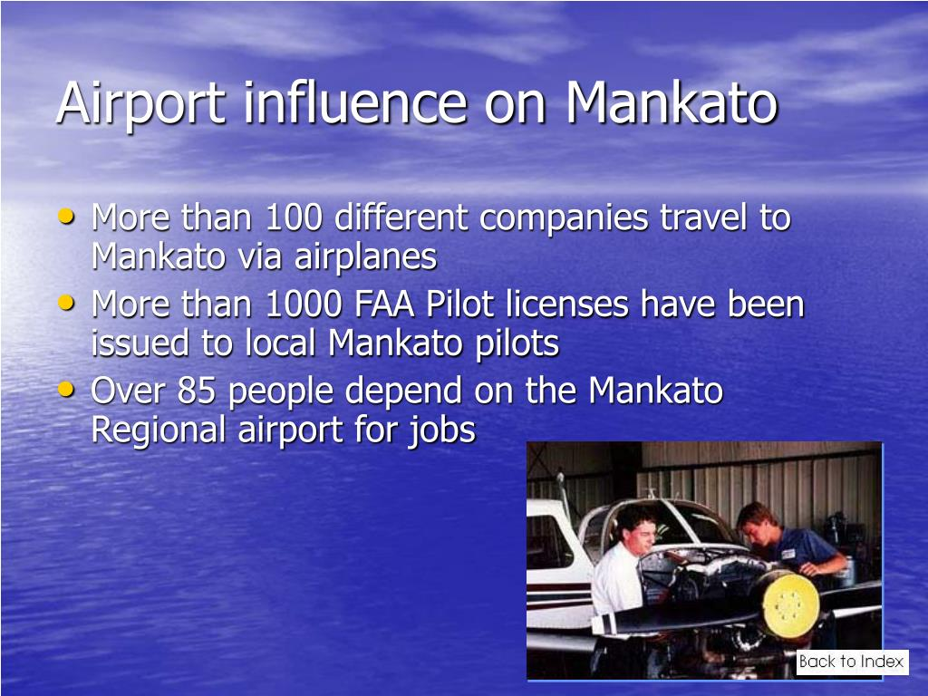Airport influence on Mankato